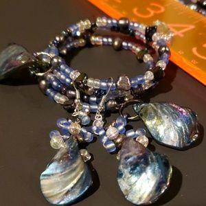 Jewelry - Ocean Blue Necklace Bracelet Earrings Set